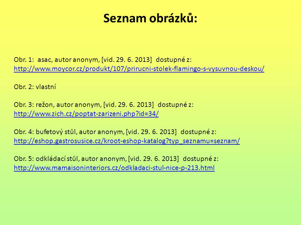 Seznam obrázků: Obr. 1: asac, autor anonym, [vid. 29. 6. 2013] dostupné z: